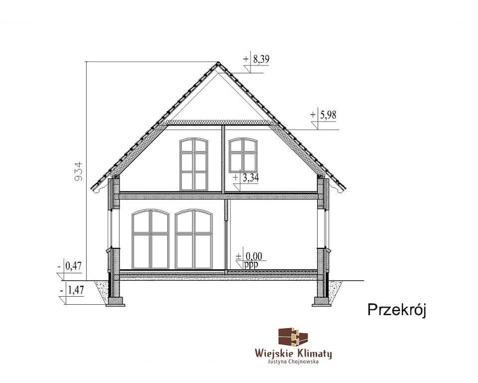projekt domu indywidualnego murowanego z cegły