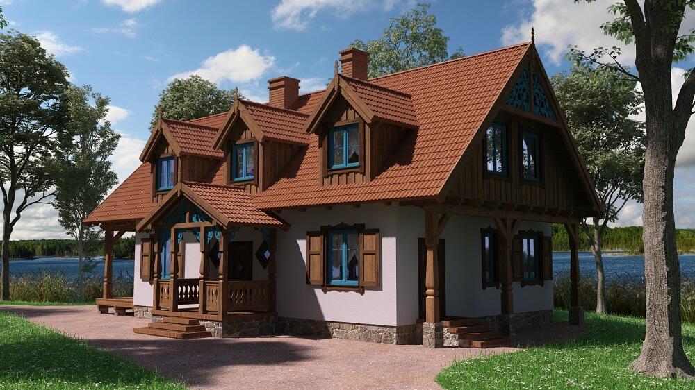 projekt murowanego domu mazurskiego