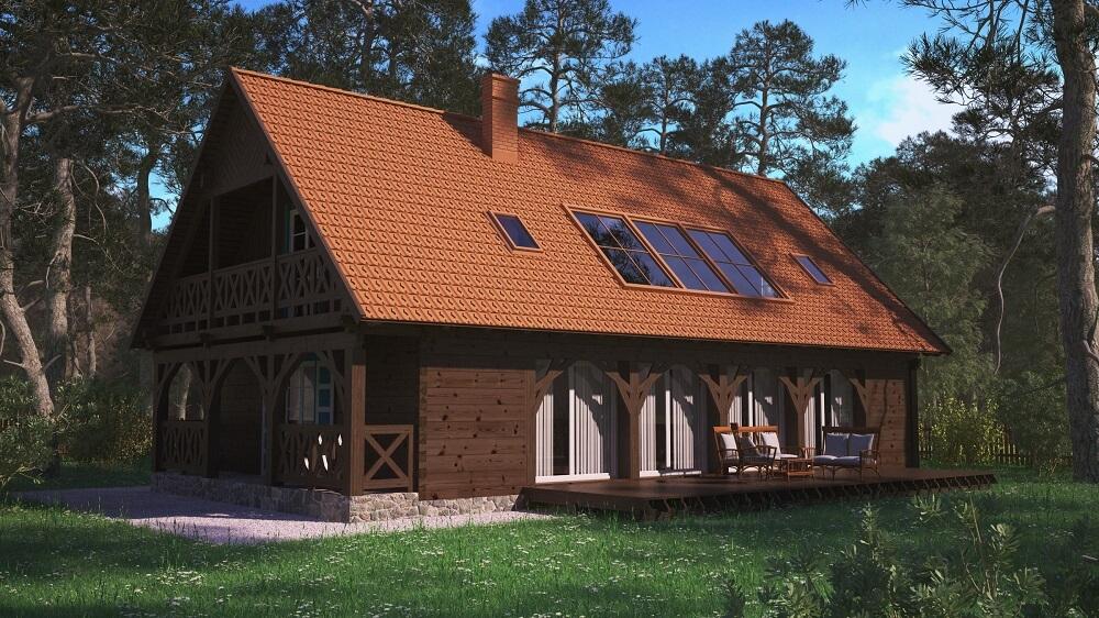 projekt domu z dużymi oknami