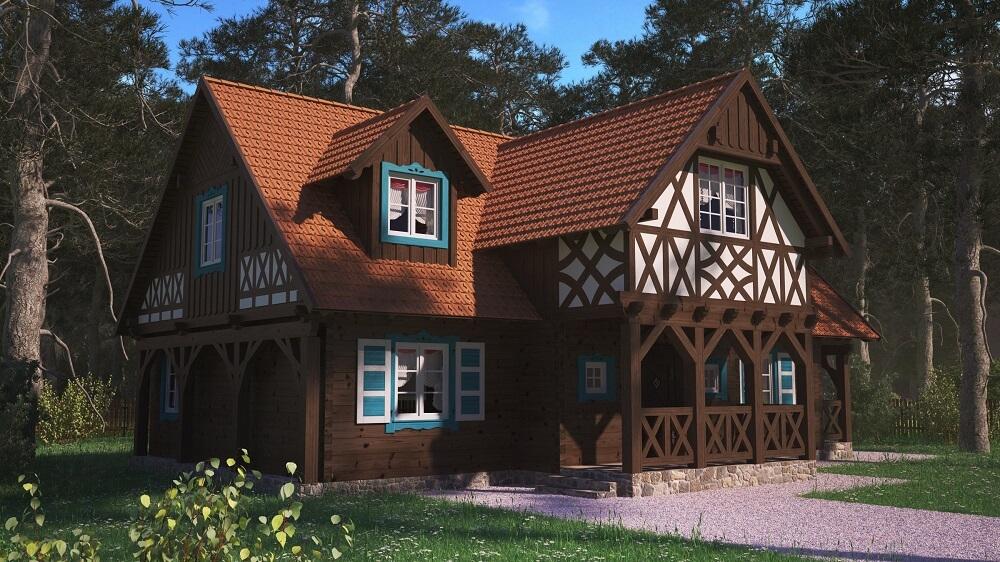 projekt domu drewnianego z bali