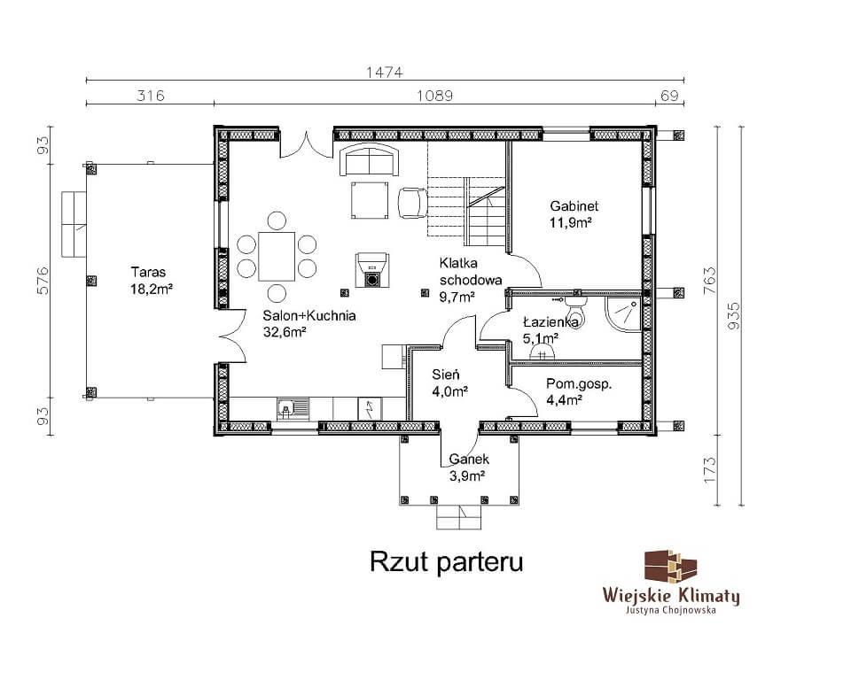 projekt domu szkieletowego
