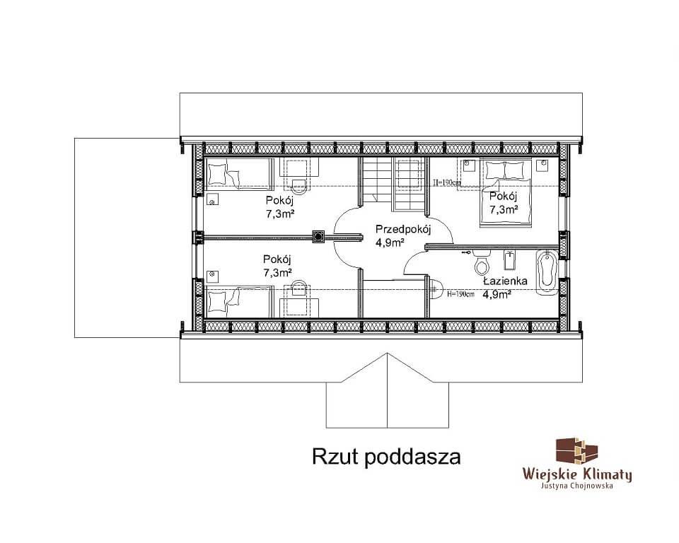 projekt domu szkieletowego w stylu mazurskim