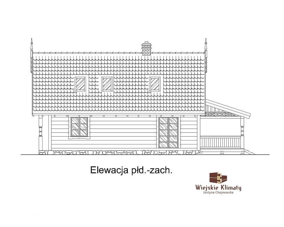 projekt szkieletowego domu drewnianego